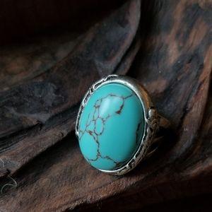 Lucky Brand Large Boho Style Turquoise Ring
